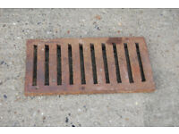 RECLAIMED VERY HEAVY DUTY CAST IRON TRENCH DRAIN GRATES