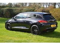 Volkswagen Scirocco 2.0 GT TSI 200 Petrol Manual Black Leather Interior 2009 09 3Dr Alloys