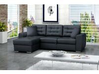 FAST DELIVERY! Corner Sofa Bed baciatto with Storage Container Sleep Function New BARGAIN