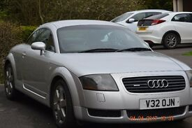 2000 Audi TT 225 BHP silver good condition long M.O.T