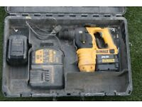 dewalt sds cordless 24volt drill , charger , 2 batteries and box