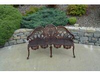 Three Seater Bronze Garden Chair