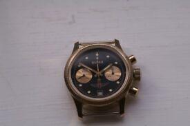 Poljot Buran model manual wind mechanical chronograph wristwatch- Russian - Cal 3133 - New old -'90s
