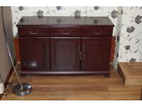 Mahogany Sideboard and Glassed Fronted Matching unit