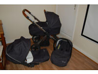 Oyster 3 in 1 travel system carrycot pram buggy pushchair stroller carseat