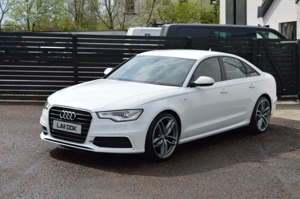 2011 AUDI A6 S LINE IBIS WHITE FSH 1 OWNER 2 KEYS LOW RATE FINANCE AVAILABLE