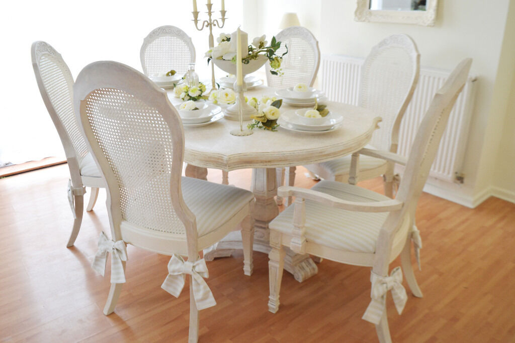 shabby chic kitchen table sets busline us wow sale unique - Shabby Chic Dining Room. Up The Wall For A Traditional Shabby Chic