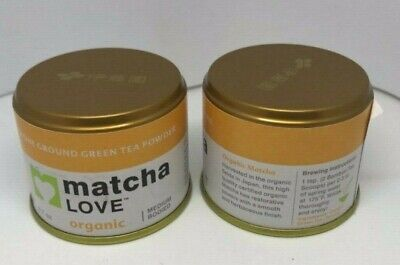 Matcha Love Ceremonial Green Tea Organic Stone Ground healthy Powder lot drink 2 Ground Mint Tea