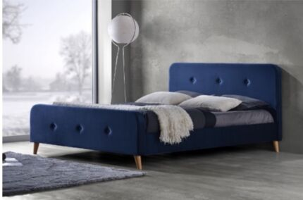 Modern Queen size fabric bed frame