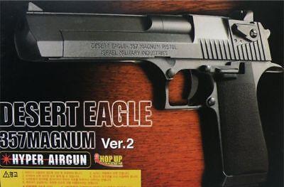 Desert Eagle 357 Magnum Pistol Airsoft BB Gun Toy Black Color Air Cocking Type