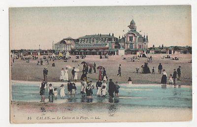 France, Calais, Le Casino et la Plage LL 14 Postcard, B083