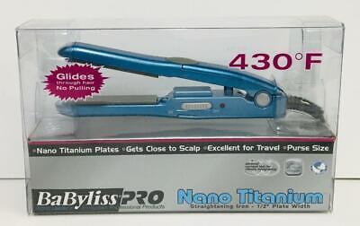 "MINI Babyliss Pro Nano Titanium Straightening Iron 1/2"" Width MODEL BABNT3050 segunda mano  Embacar hacia Mexico"