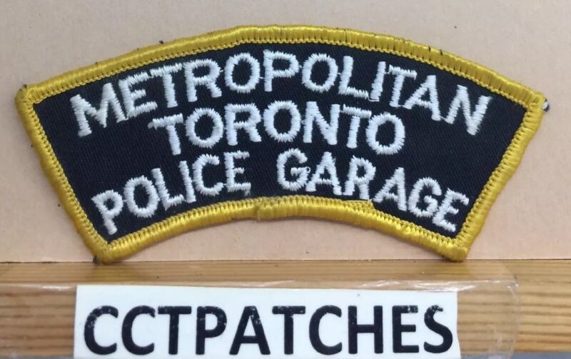 METROPOLITAN TORONTO, CANADA GARAGE POLICE SHOULDER PATCH