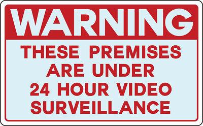 Warning Video Spy Surveillance Cameras Recording Yard Property Waterproof Sign