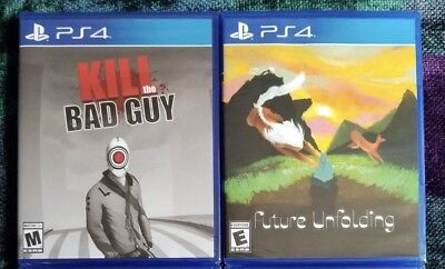 Future Unfolding & Kill The Bad Guy (PS4) Limited Run Games PlayStation 4 Bundle