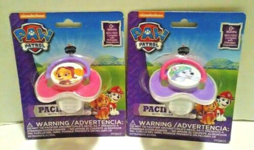 Paw Patrol Baby Girl Pacifier With Cover BPA Free Pink Purple 2 Packs
