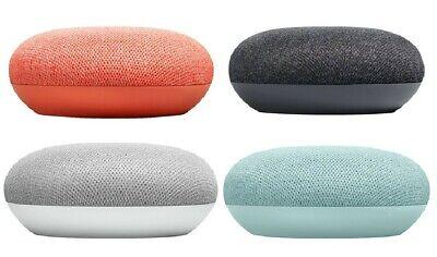 Google Home Mini Smart Speaker with Google Assistant Charcoal Chalk Coral Aqua