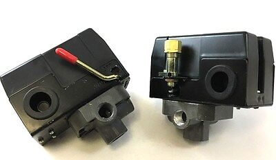 Quality Air Compressor Pressure Switch. 4 Port . 95 Psi On-125 Psi 120230 Volt