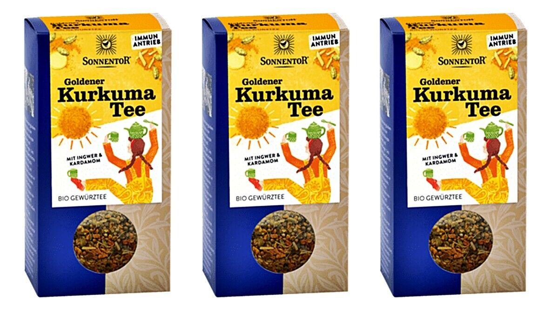 SONNENTOR Goldener Kurkuma Tee lose bio 120 g  Bio-Gewürzteemischung