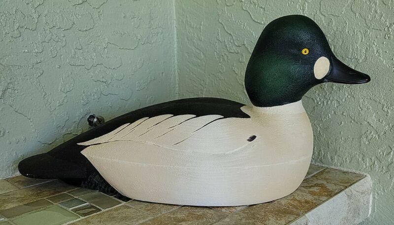 Glenn Sweet Signed Male Goldeneye Duck Decoy