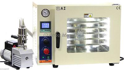 Ai 220v 5 Sided Gas-filled 1.9 Cf Vacuum Oven W 6 Cfm Easyvac Pump