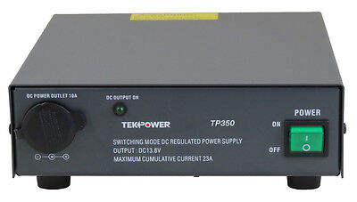 Used TekPower TP350 23 Amp DC 13.8V Switching Power Supply with Cigarette Plug