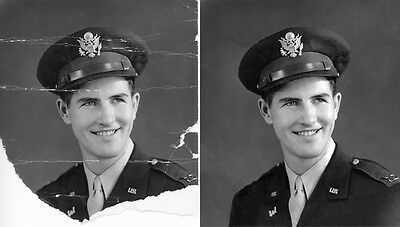 Digital Professional Photo Restoration Remove Tears and Marks