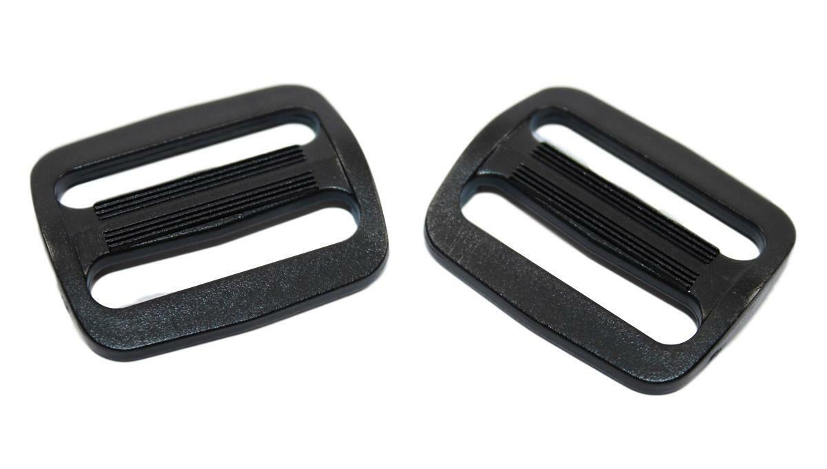 5,10,50 Stck Tukan-tex Schieber Stopper Schwarz 10 St/ück Regulator f/ür 50mm Gurtband
