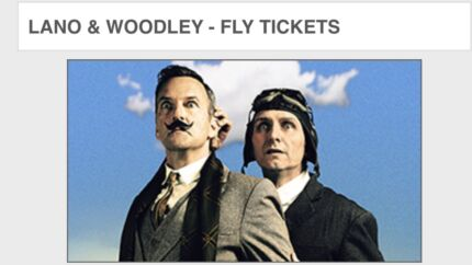 2x Lano & Woodley 'Fly' tickets
