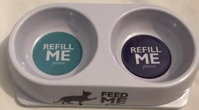 Double Sided Feed Me Dog Or Cat Pet Bowl