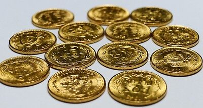 Collection Of Five ~ 1945 Mexico Dos Pesos Gold BU Coins on Rummage