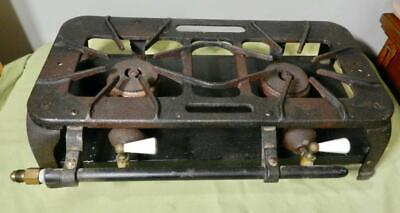ANTIQUE CAST IRON GAS STOVE 55AS 817A CAST IRON 2 BURNER COOK TOP GRISWOLD ? OLD