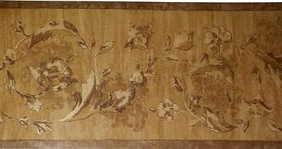 Victorian SWAG Scroll Leaf Crown Moulding GOLDEN BROWN Architecture WALL BORDER