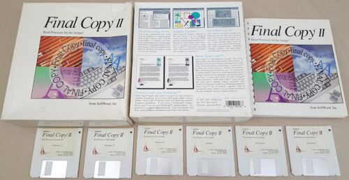 Final Copy II Release 2 1993 SoftWood for Amiga 500 600 1000 1200 2000 3000 4000