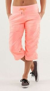 Lululemon Brand New Bleached Coral Dance studio Crops Size 4