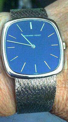 Mens Audemars Piguet 18kt White Gold Watch, Dress Style Case Blue Dial