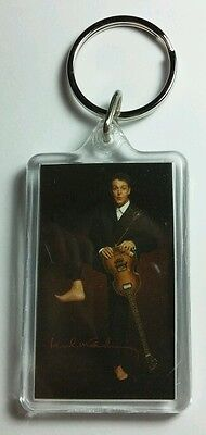 AS-IS PAUL MCCARTNEY BAREFOOT IN SUIT MUSIC KEY CHAIN KEYCHAIN