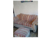 Free sofa , armchair and foot stool