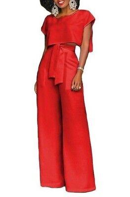 AA CHICAGO Women's 2 PCs Set Romper Chiffon Long Trousers True To Size Long Romper Set