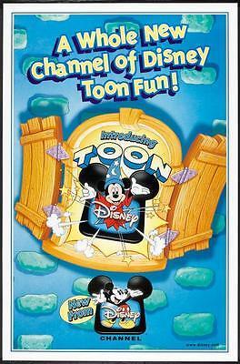 The Disney Channel Toon 27x41 One Sheet Tv Promo Rare Original Poster