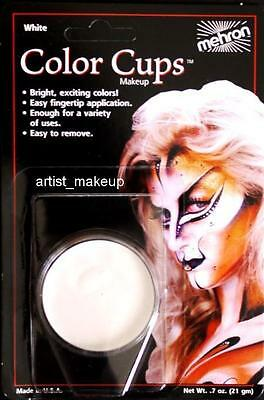 Mehron Clown White Face Paint 0.5 oz Costume Stage Theatrical makeup - White Clown Paint