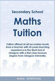 Secondary Maths Tutor