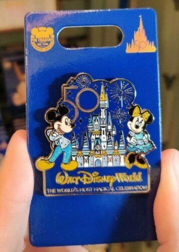 Disney Parks 50th Anniversary Mickey and Minnie Castle Celebration Pin NEW