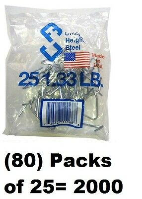 80 Ea Chicago Heights M005fast25rg025 25 Packs T-post Fence Post Clip Fastener