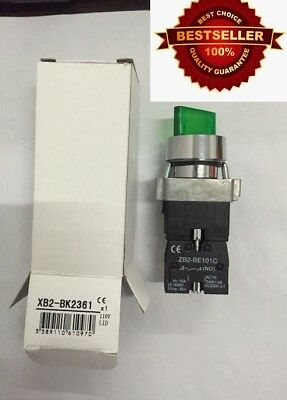 Rotary Illuminated 2-position On Off Select Selector Switch N.o.metal 120v 2pole