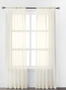 "Mainstays Sheer Voile Rod Pocket Curtain Panels 84""m"