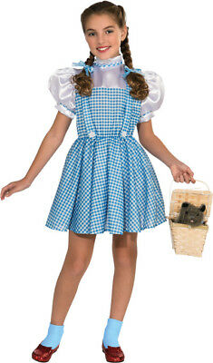 Girls Child WIZARD OF OZ Deluxe Dorothy Cotton Dress - Childrens Wizard Costumes