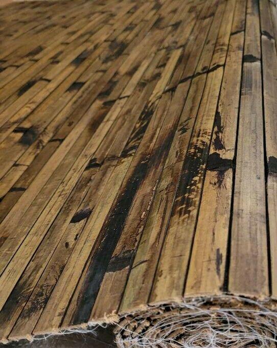 4ft x8ft  Chocolate Wainscoting Wall Paneling 4 A Tiki Thatch Bar Hut Cabana