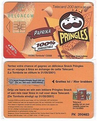 Belgique - Chip Card 111 - Pringles Orange win 200gr - Used/Usagée