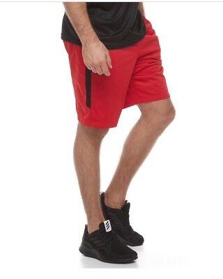 Tek Gear Mens Shorts Small S Red Black NWT Athletic Training Sports